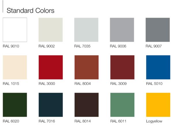 Bảng màu vật liệu panel cách nhiệt Thế Gia